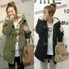 Womens Hooded Jacket Coat Casual Thicken Warm Winter Parka Overcoat Long Jacket