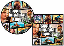 GTA 5 grand theft auto 5 Cake Topper round, square, rectangle or cupcakes