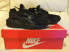 NIKE AIR HUARACHE TRIPLE BLACK LIZARD ALL SIZES 4-9 LIMITED EDITION NEW *LOOK*