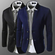 Fashion Mens Stand Collar Slim Fit Casual Formal Suit Blazer Coats Jacket XS-L