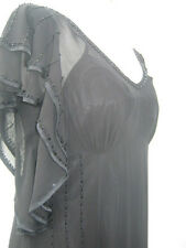 Episode designer Drs sequin waterfall evening dress silk UK 8 10 16 rrp £250