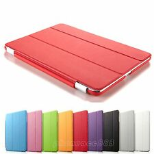 Luxury Leather Magnetic Cover Hard Back Case Sleep/Wake For Apple iPad mini/ Air