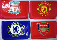 Arsenal Chelsea Manchester United Liverpool Football Club Velcro Wallet Canvas