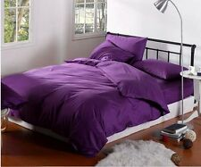 PURPLE 100% Cotton Quilt Cover/Sheet Set/Flat/Fitted/Pillowcases