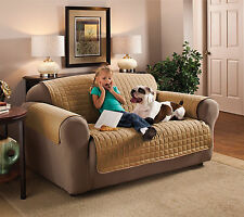 Microfiber Slip Cover for Chair Loveseat Sofa - Pet and Kid Furniture Protector!