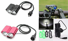 SolarStorm CREE XML 2x U2 LED 5000LM Bicycle Light Lamp Luz de la bicicleta