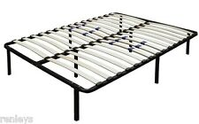 All Sizes Metal Platform Bed Frame with Wood Slats Adjustable Lumbar Support
