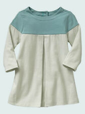 NEW GAP BLUE COLORBLOCK PLEATED DRESS SIZE 6-12-18-24M