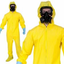 Breaking Bad Yellow Chemical Suit Fancy Dress Heisenberg Hazmat Lab Costume