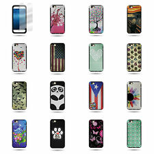 "For Apple iPhone 6 (4.7"") Hard Soft TPU Hybrid Phone Case & Screen Protector"