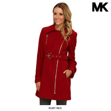 Michael Kors Asymmetrical Double-Breasted Walker Coat - Assorted Colors