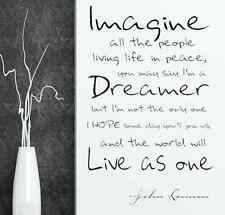 imagine john lennon vinyl wall decal quote home decoration sticker