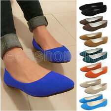 New Women Lady Slip-on Loafers Flat Dolly Sweet Shoes Ballet Ballerina Slippers