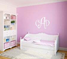 Monogram Wall Decal - Personalized Initials - College Dorm Room -Teen Wall Mural