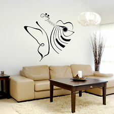 Musical Guitar and Butterfly Wall Art - Sticker, Decal, Living Room, Bedroom, M4