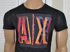 Armani Exchange Painted Logo T-Shirt White, Black or Warm Red NWT