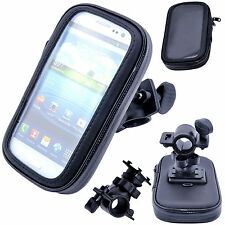 Waterproof Rotating Bicycle Bike Mount Handle Bar Holder Case For Samsung Phones