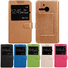 1X Book-Stand Leather Case Cover Protection For Alcatel One Touch M POP 5020D