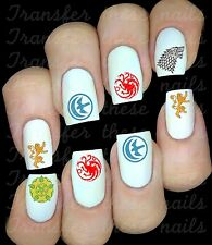 30 NAIL ART DECALS STICKERS GAME OF THRONES STARK TARGARYEN TYRELL LANISTER
