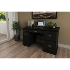 Office Computer Desk Home Furniture Table Laptop Workstation Black Oak Wood NEW