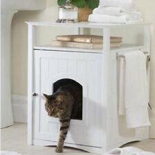 Merry Pet Cat Washroom Litter Box Pet Kitty Hidden In Table Stand Bathroom NEW