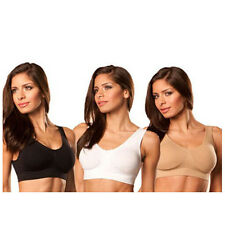 Genie Bra Style Size L white&black&nude,Nylon, with Removable Pads