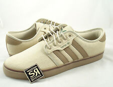 New 10.5 adidas Originals SEELEY HEMP Shoes Khaki Brown Superstar Skate snoop