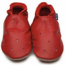 Inch Blue Baby Girls Boys Luxury Leather Soft Sole Pram Shoes - Milky Way Red