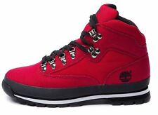 New TIMBERLAND Canvas Euro Hiker Boot red/black