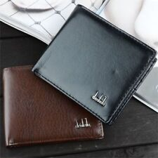 Men's Slim Pu Leather ID Card Clutch Handbag Purse Wallet Pocket Black/Brown