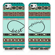 Best Friends Tribal Aztec Infinity For iPhone 5C 5 5s Hard Case - TWO Case Set