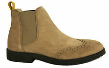Hush Puppies Scooter Mens Shoes Chelsea Boots Leather Wide Taupe H1410535B D44