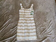 Lilly Pulitzer New Meredith Shift Gold Metalli Lotty Daisy Lace 0 2 4