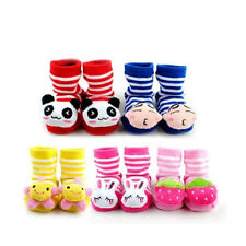 12 Styles Cartoon Baby Children Anti-Slip Solid Rubber Socks Slipper Shoes Boots