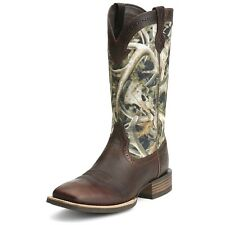Ariat Western Boots Mens Quickdraw Camo Cowboy Brown 10012781
