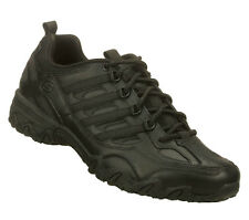 76492 SKECHERS  WOMEN WORK SHOES NURSE COMFORT BLACK SLIP RESISTANT