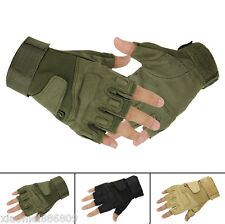 Fingerless Military Tactical Airsoft Hunting Riding Game Glove Outdoor Sports
