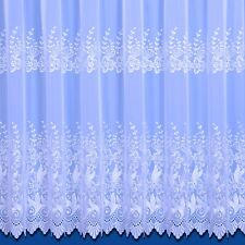 TOP QUALITY VIENNA  EMBROIDERED WOVEN VOILE NET CURTAIN IN WHITE