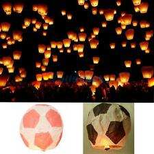Chinese Fireproofing Paper Material Sky Flying Lantern Football Shape Two Color