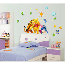 Baby Kids Room Removable Wall Paper Winnie The Pooh All Kinds Nursery Decor