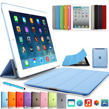Leather Magnetic Smart Cover Hard Back Case Sleep/Wake For Apple iPad Mini /Air