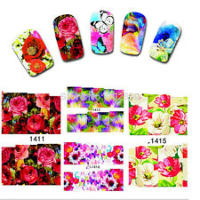 Nail Art Water Transfer Sticker Nails Beauty Look Wraps Foil Temporary Tattoos