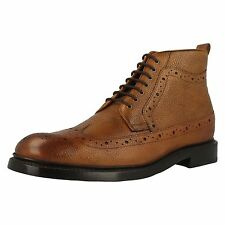 clarks 'Edward Lord' Mens Tan Leather Boots
