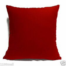 ccc-a38 SCARLET RED High Quality Cotton Canvas Cushion/Pillow Cover Custom Size