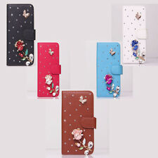 Color Shine Diamond Rose Wallet Leather Flip Case Cover for Various Nokia Phone