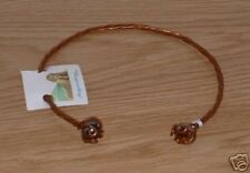 Copper Neck Torc Torq Tork with Gem Stone You Choose Size & Stone SCA Garb fnt