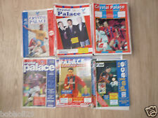 Crystal Palace Home Programmes 1990/91 to 1996/97