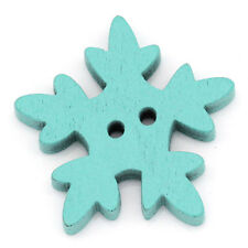 Wholesale lots Christmas Snowflake Wooden Buttons 2 Holes Fit Sewing Scrapbook