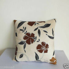 "Cushion Cover""Nice Floral ""Thick Linen Cotton Blend ""Custom Made"" YF077-4"