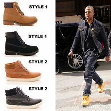 MENS ANKLE BOOTS LACE UP CASUAL COMBAT WALKING FASHION CELEBS SIZE